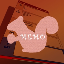 24/7 Memo | free, simple calendar note with the vertical scroll
