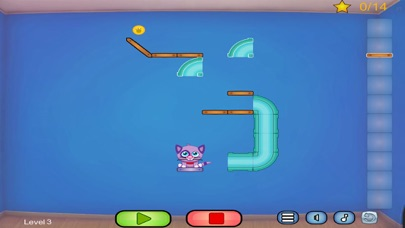 Cat Shmat - Cut the rope like Action Physics Puzzle Game screenshot one