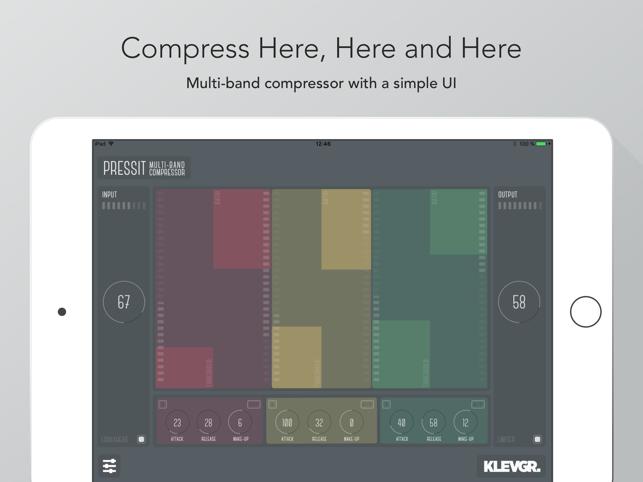 PressIt multiband compressor Screenshot