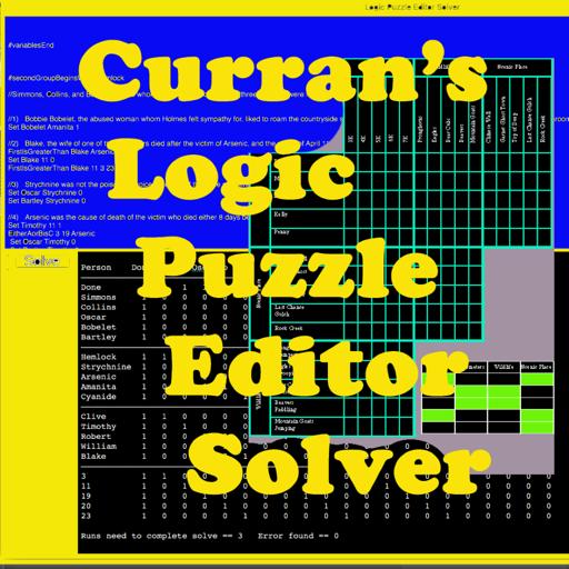 Curran's Logic Puzzle Editor Solver