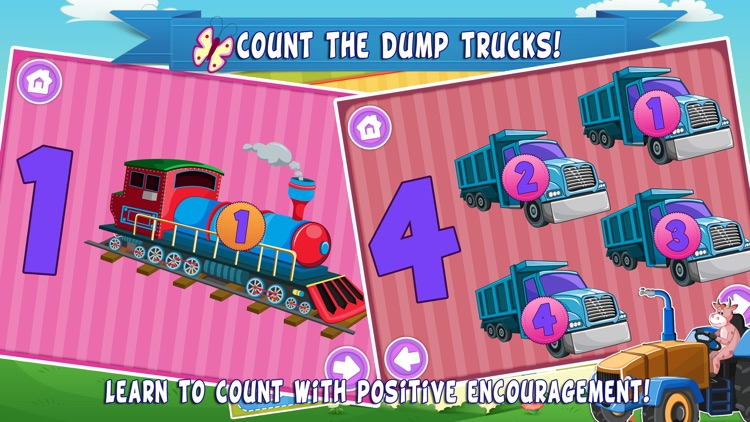 Toddler Trucks World Count and Touch- 123 counting Activity Game for kids screenshot-4