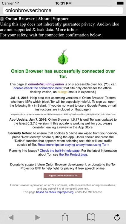 Onion Browser - Secure & Anonymous Web with Tor