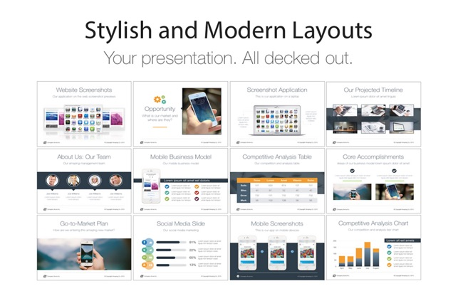 pitch deck templates for powerpoint をmac app storeで