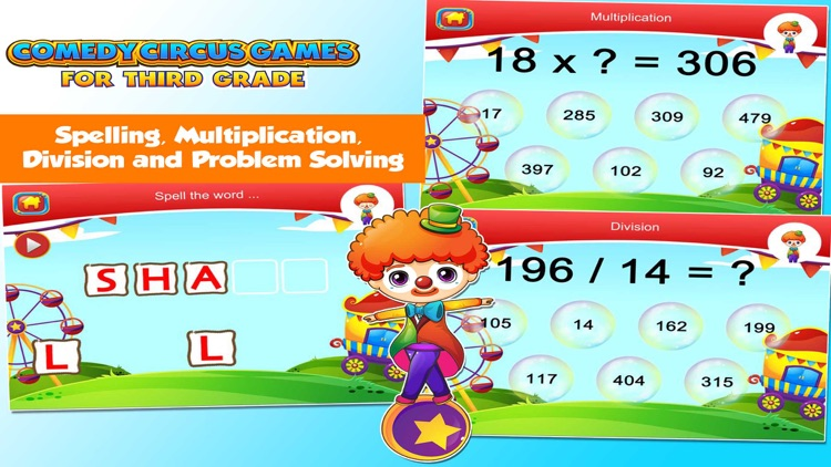 Third Grade Games with the Circus School Edition screenshot-4
