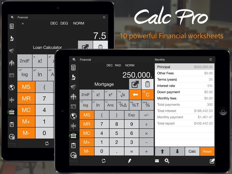 Calc Pro HD - Top Calculator! screenshot-1