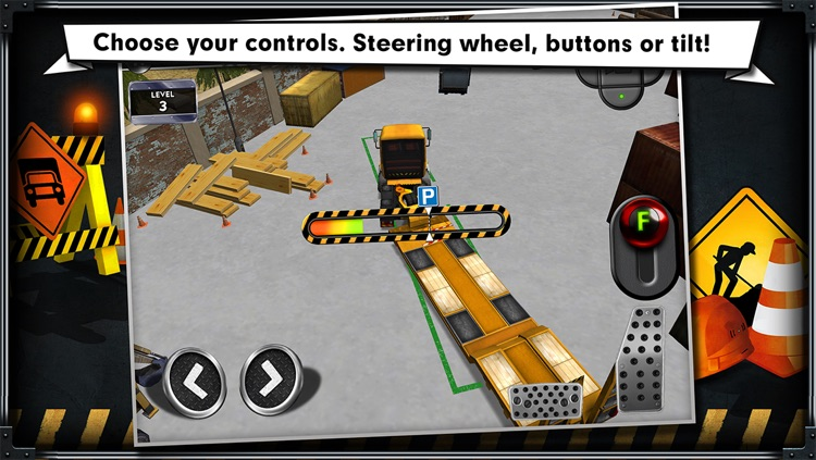Trucker: Construction Parking Simulator - realistic 3D lorry and truck driver free racing game screenshot-4