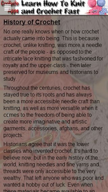Knit and Crochet: Learn How To Knit and Crochet Fast! screenshot-4
