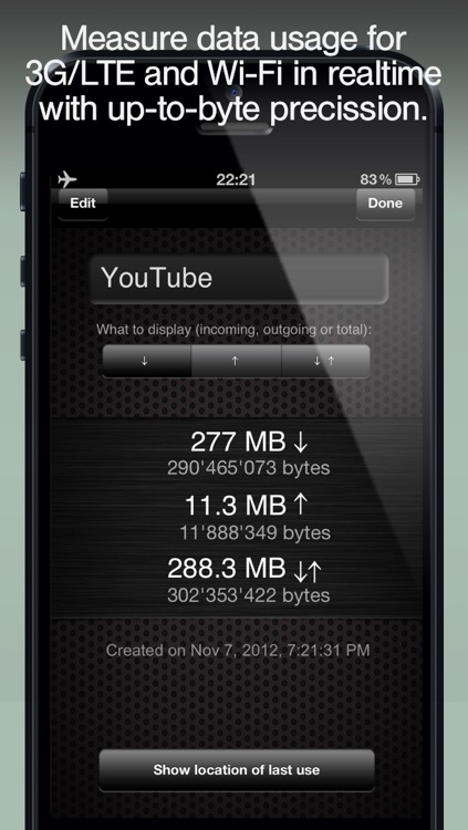 Download Meter - track Data Usage and avoid Data Plan Overage