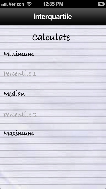 Interquartile, Median, Minimum and Maximum