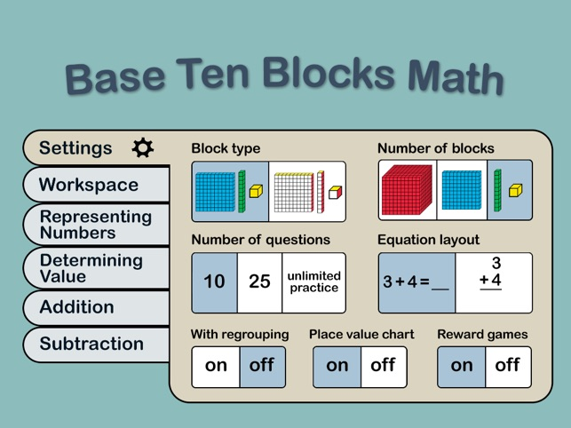 Base Ten Blocks Math on the App Store