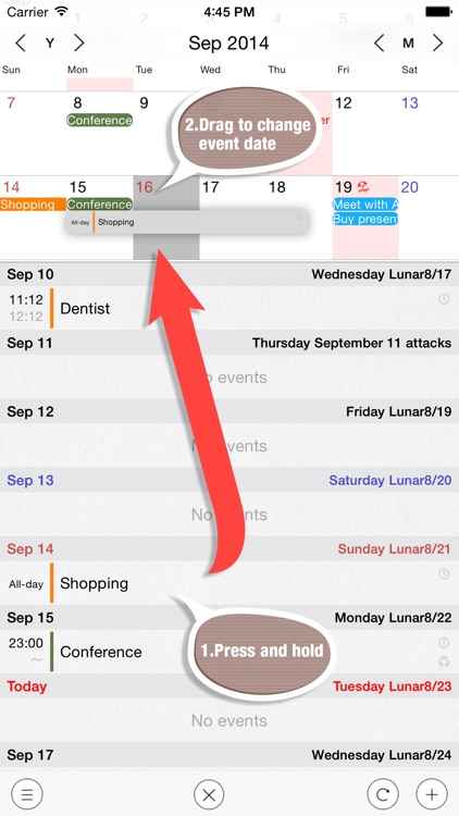 HachiCalendar3 - Vertical Scroll Calendar,Widget Calendar screenshot-1
