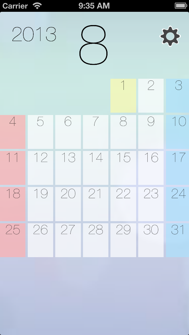 Float Calendar