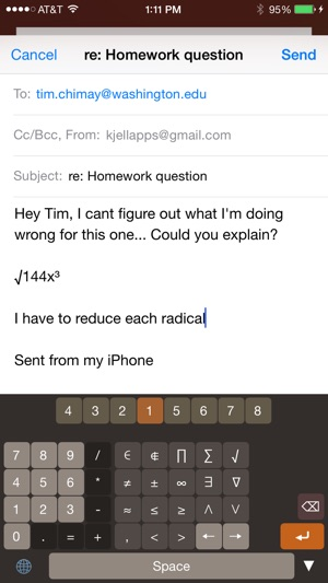 Calculator Keyboard Easy To Use Math Symbols On The App Store