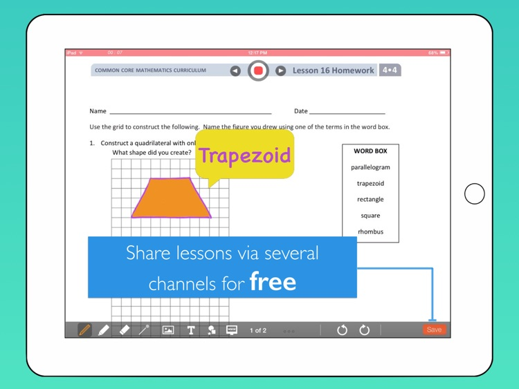 bContext - Interactive whiteboard to record & share lessons for flipped classrooms screenshot-4