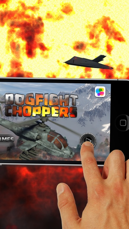 Dogfight Choppers - Free Military Helicopter War Game screenshot-4