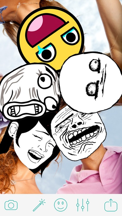 Troll Face Camera - Funny Pics Photo Editor for ProCamera SimplyHDR screenshot two