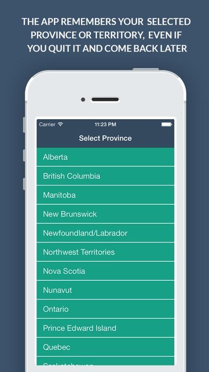 Canadian Sales Tax Calculator + screenshot-4