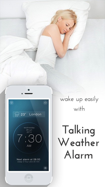 Talking Weather alarm clock