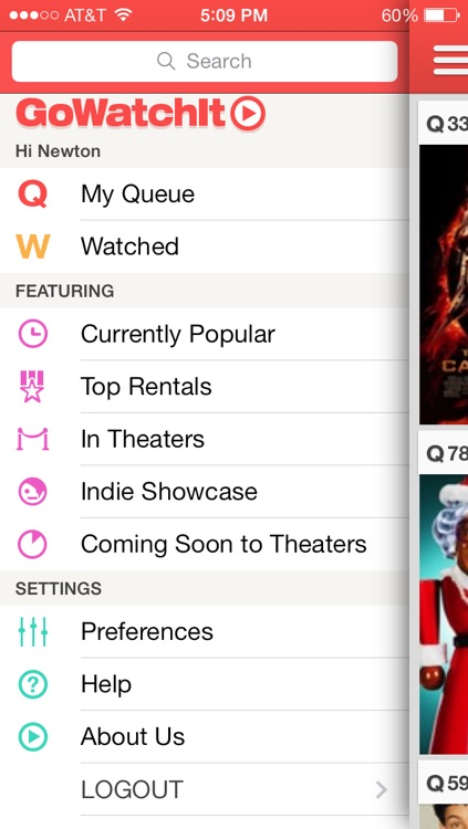 GoWatchIt Movie Search & Queue