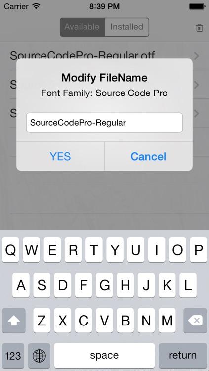 aoFont - Install font as you wish screenshot-4