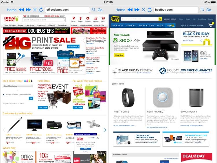 Split Screen Browser Pro screenshot-3