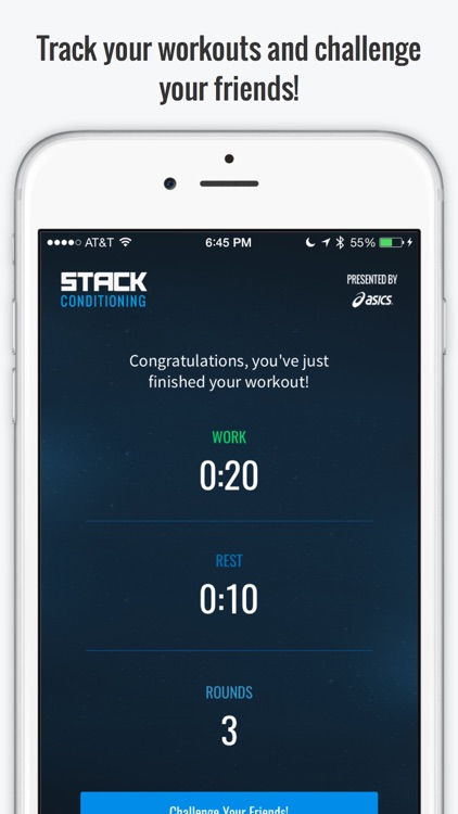 STACK Conditioning Presented by ASICS - Free Interval Timer and Fitness Challenges screenshot-4