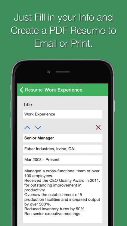 Smart Resume Pro screenshot-3