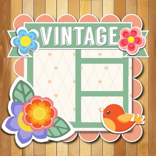 Vintage Photo Collage- Beautiful Pic-ture Frame Deco Designs for Hipsters iOS App