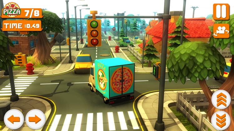 Blocky Truck Pizza Craft 3D screenshot-3