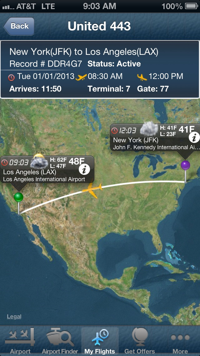 Screenshot for New York Kennedy Airport JFK- Flight Tracker in Azerbaijan App Store