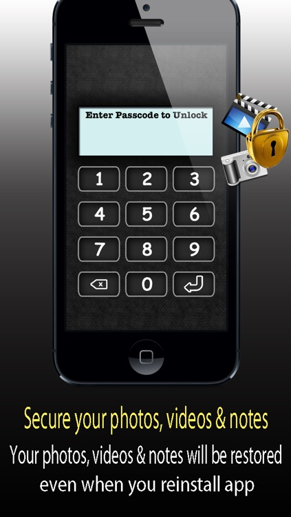 Data Privacy Manager Pro ™ security suit to lock my private secret photos , pictures , videos and notes screenshot-3