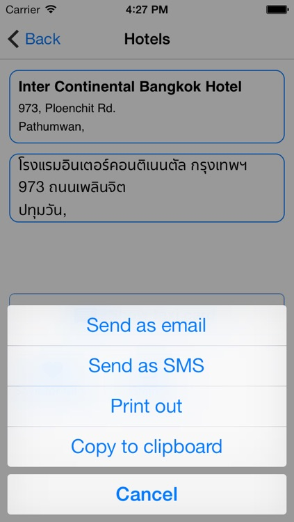 Bangkok Taxi Translator screenshot-4