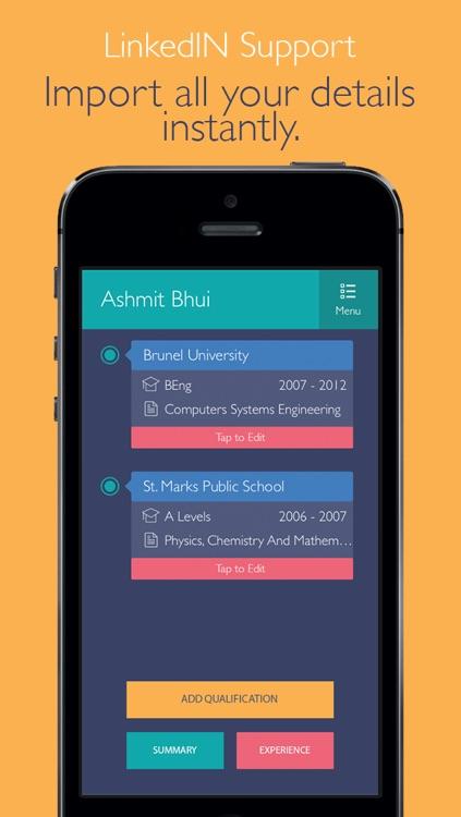 Pocket CV : Professional Resume Designer On The Go screenshot-4