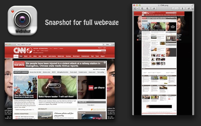 Webshot - Snapshot for full webpage Screenshot