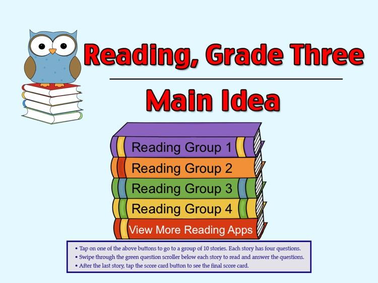 Reading Grade 3, Main Idea