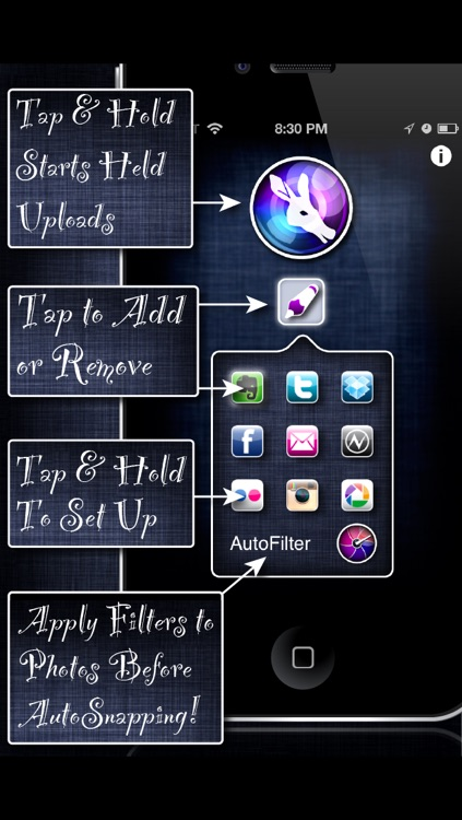 AutoSnap - Automatic Capture & Upload For Facebook, Dropbox, Evernote, Twitter, & Instagram screenshot-3