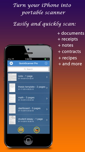 Quick scanner free document receipt note business card image screenshots reheart Gallery