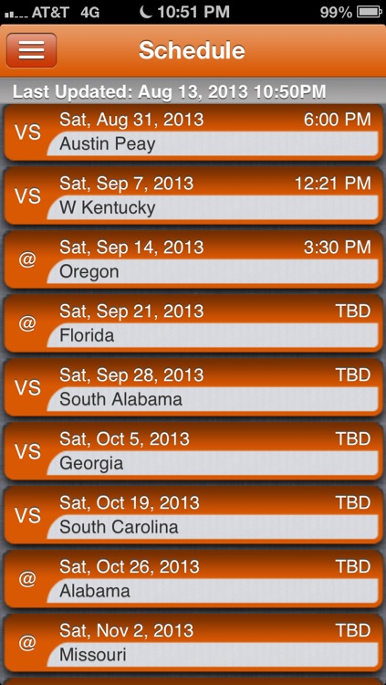 Tennessee Vols Football Live screenshot-2