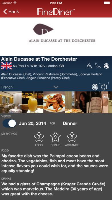 Screenshot #2 pour FineDiner - your restaurant journal
