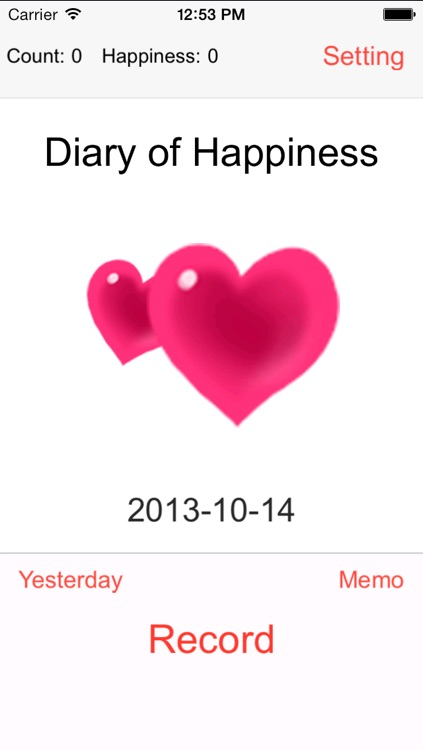 Diary of Happiness - Notebook of Romantic - Happy Hour - Wonderful Memories - Notepad of Luck - Love Recorder
