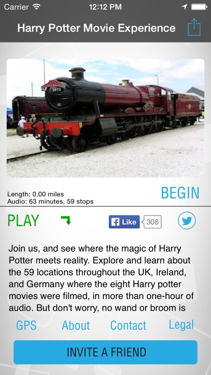 iTourMobile - Movie Tour for Harry Potter