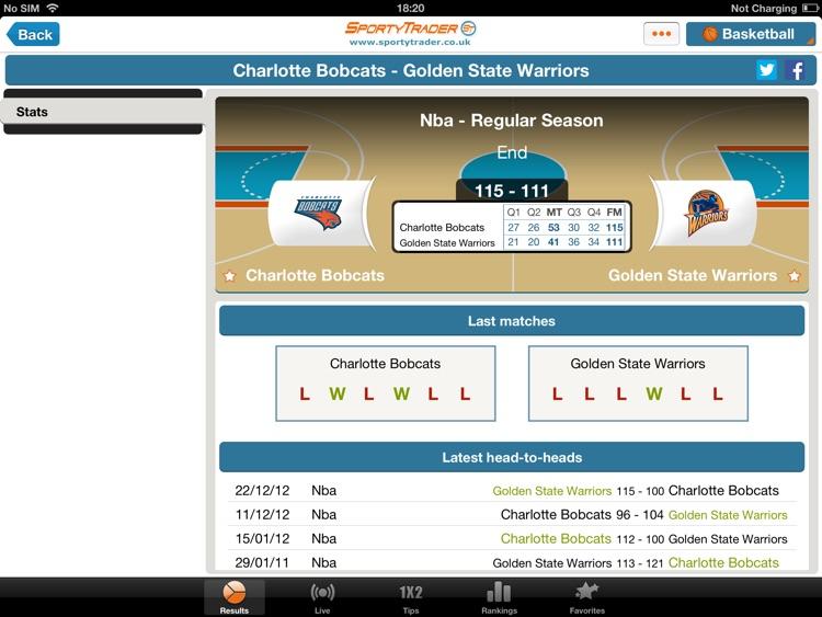 Live Scores HD - Football Tennis Basketball screenshot-4