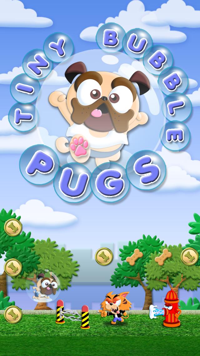 Tiny Bubble Pug Adventure - A Jumpy Puppy Run Game FREE
