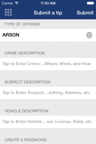 Screenshot of Portland Police Bureau Mobile