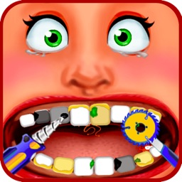 Dentist Office - Extreme Medical Surgery With A Little Tongue And Teeth Doctor