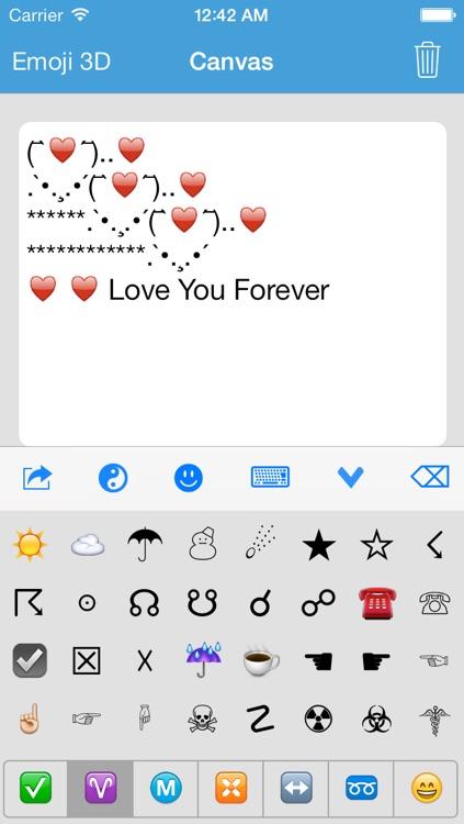 Symbol Keyboard Emoji Emoticons Art Text Unicode Icons