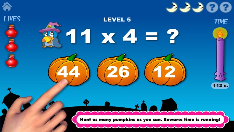 Adventure Basic School Math  · Math Drills Challenge and Halloween Math Bingo Learning Games (Numbers, Addition, Subtraction, Multiplication and Division) for Kids: Preschool, Kindergarten, Grade 1, 2, 3 and 4 by Abby Monkey® screenshot-3