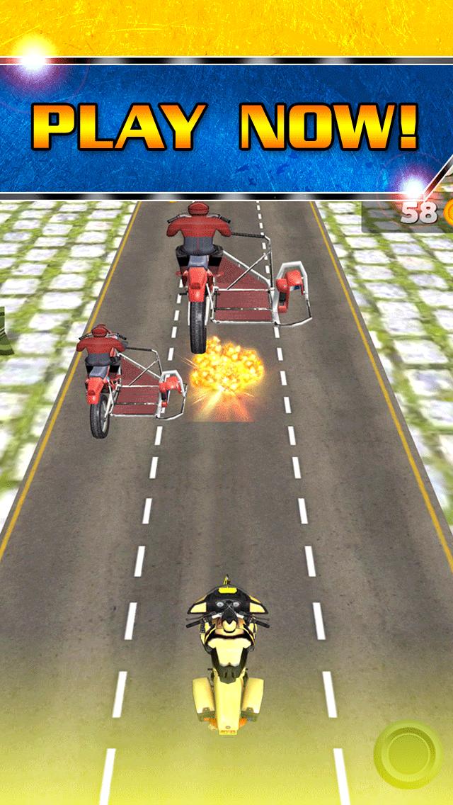 アサルト乗馬ストリートレースゲーム無料ではバトルレーサーの実行3Dダートバイクのおすすめ画像5