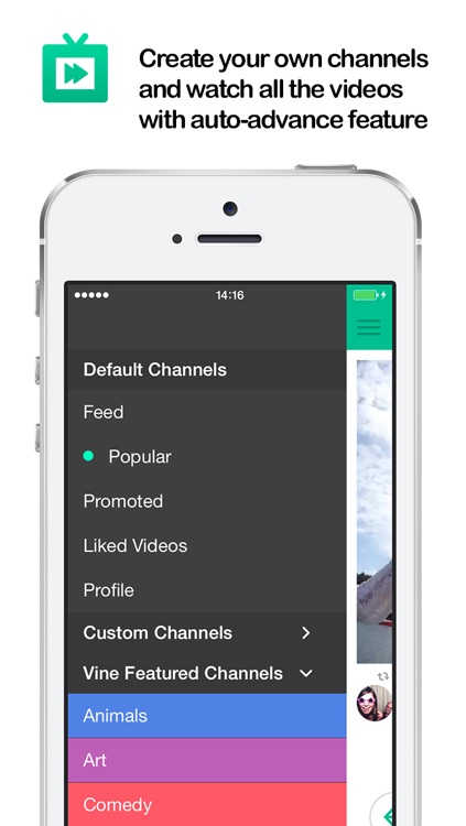 TV for Vine : (Watch Best Vine Videos , Create Your Own Video Channel , Vines Non-Stop -  is the Best Way to Watch Cool Vines)