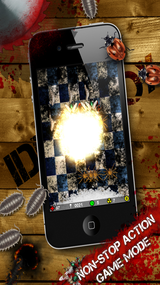 iDestroy Reloaded - torture the bloody bugs with awesome weapons in a sandbox screenshot four